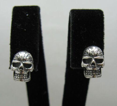 STERLING SILVER EARRINGS SKULLS SOLID 925 NEW E000444 EMPRESS