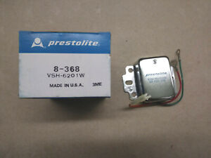 Prestolite 12V Voltage Regulator, 8-368 (VSH-6201W), Eaton, Mifran Bomon, NOS!
