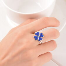 1PC Mood Ring Changing Color Clover Adjustable Temperature Control Size 7