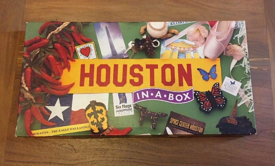 Houston in einer kiste brettspiel, usa.