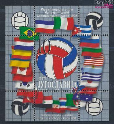 Jugoslawien Jugoslawien Block48 Postfrisch 1998 Volleyball-wm 7387726 Die Neueste Mode