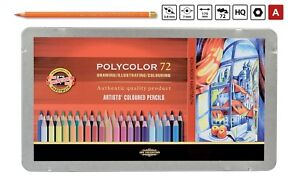 POLYCOLOR-COLOURED-PENCIL-SET-KOH-I-NOOR-ARTISTS-CRAYONS-DRAWING-3827-3826-3825