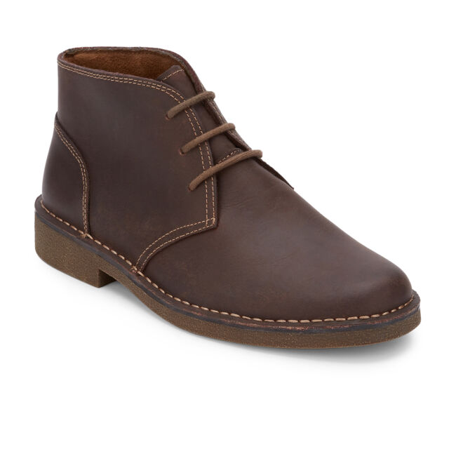 Dockers Men's Tussock Genuine Leather Rubber Sole Chukka Boot Red Brown