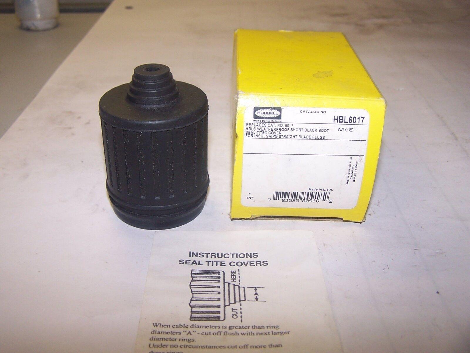 Hubbell HBL6027 Weatherproof Device Boot Black