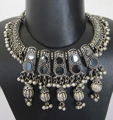 New Boho Skirt Costume Jewelry Kuchi Tribal Necklace Earring Gypsy Hippie Dance