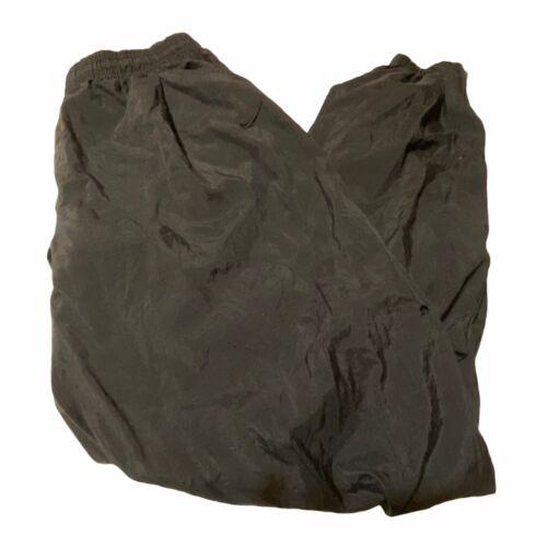 Vintage Nike Mens XL Solid Black Nylon Joggers Swe