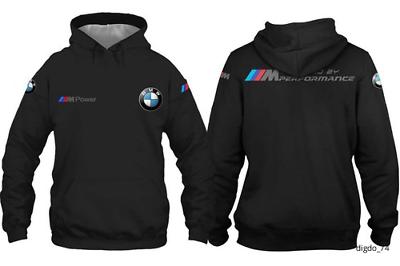 BMW-MPower  Motorsport Hoodie Racing Top Hot New Design Black Full Size