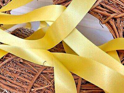Berisfords Shade 679 Yellow Double Satin Ribbon 3//7//10//15//25//35//50mm Width