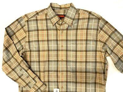 Nwt Austin Reed London Long Sleeve Shirt Button Down M Green Plaid Brown Beige Ebay