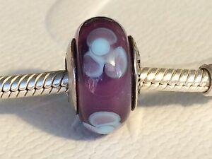 04e5d089b Image is loading Authentic-Pandora-Purple-Flower-for-You-Murano-Glass-
