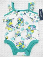 Old Navy Baby Girls 0-3 Mos Floral Sleeveless Cotton Bodysuit
