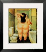 Bath Framed Art Print By Fernando Botero - 19x22