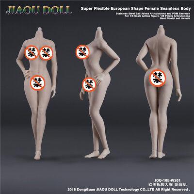 JIAOU DOLL JOQ-10E-WS01 1//6 Female Seamless Body Model New White Skin Figure Toy