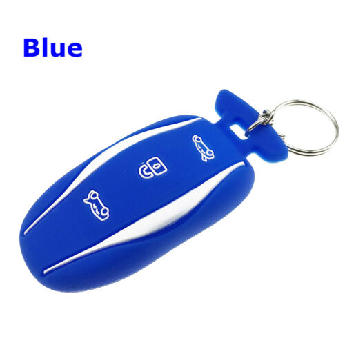 3 BUTTONS SILICONE KEYLESS KEY FOB COVER CASE FOR TESLA MODEL S X DURABLE ENTRY