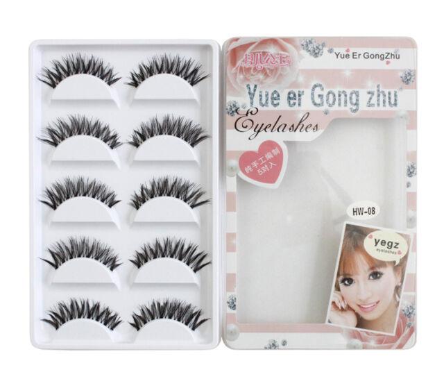5Pairs Makeup Handmade Natural Fashion Long False Eyelashes Eye Lashes HW08