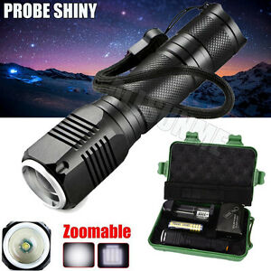 Zoomable-3-Mode-CREE-XML-Q5-LED-18650-Flashlight-Torch-Camping-Lamp-Light-Set-UK