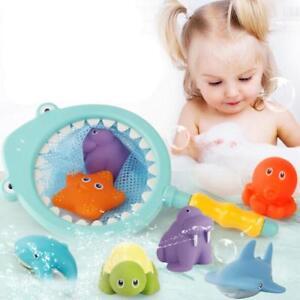 Mini Cute Bath Toys Fishing Floating Bathroom Pool Game Boys Girls Z
