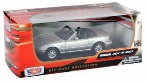1-24-Scale-Silver-Diecast-Mazda-MX5-Miata-Motormax