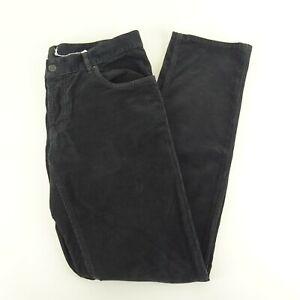 Prada Gray/Black Straight Leg Corduroy Pants Size 34