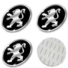 4x Stickers Caps 56mm For Peugeot Centre Hub Wheel Cap Emblem Sticker - UK Stock