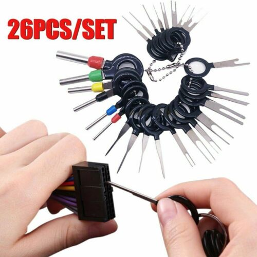 11-26Pcs Wire Terminal Removal Tool Car Wiring Crimp Connector Extractor Pin Kit