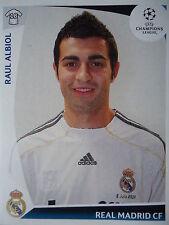 Panini 162 raul albiol real madrid uefa cl 2009/10