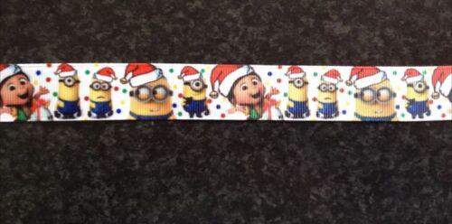 1m Christmas Santa Tree Snowman Ho Ho Ho Jingle Bells Reindeer Grosgrain Ribbon