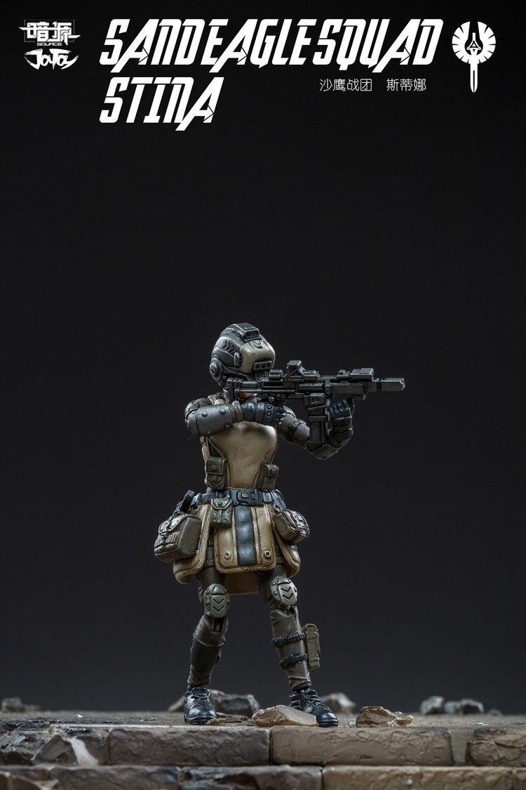 JOYTOY 1 25 Generation 5 Female Soldier Soldier Soldier Sand Eagle Squad Stina Figure Robot 5d9776