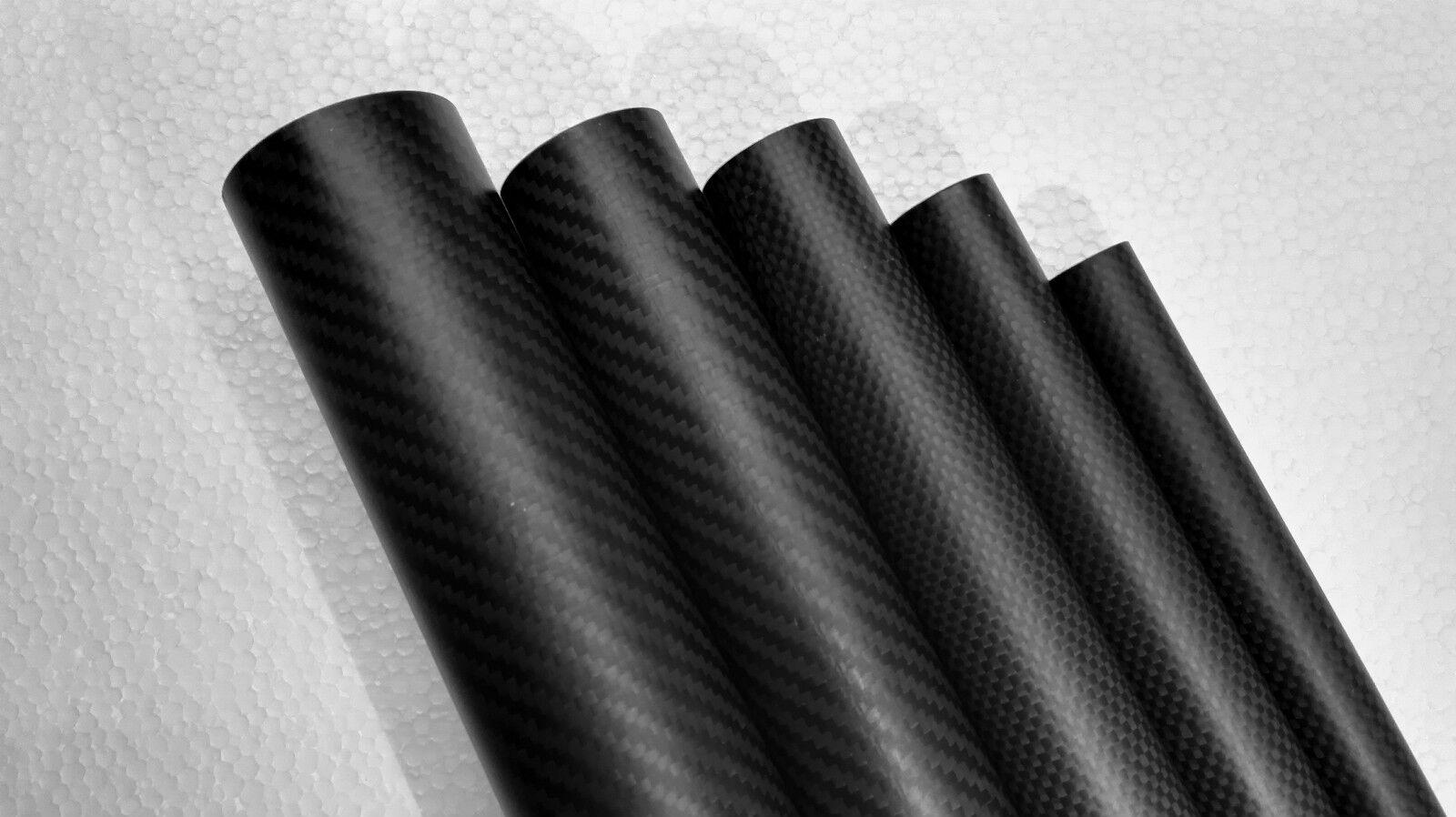 3k Carbon Fiber Tube 38mm 40mm 42mm 45mm 50mm 50mm 50mm 60mm Large size Tubing pipe AU 3edd59