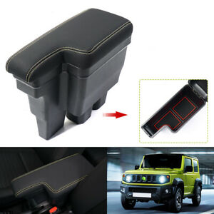 for Suzuki CELERIO Car Armrests Centre Console Storage Box Dual Layer Rest armrest box Storage Box Center Console Leather