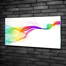 Wandbild aus Plexiglas® Druck auf Acryl 100x50 Kunst Abstrakte Wellen
