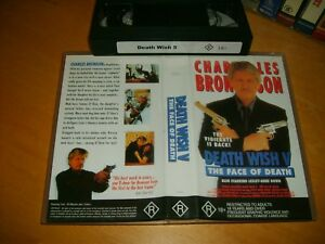 DEATH-WISH-5-The-FACE-OF-DEATH-1994-BRONSON-Australian-Sell-Thru-VHS-Issue