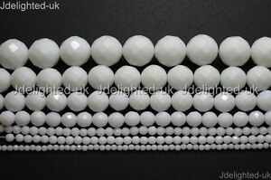 Natural-White-Alabaster-Gemstone-Faceted-Round-Beads-4mm-6mm-8mm-10mm-12mm-16