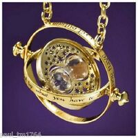 Harry Potter Time Turner Hermione Granger Gold Plated Hourglass Necklace