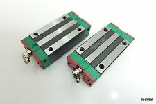 HIWIN Used QHH20HAC Lot of 2 Long type block runner carrier HGH20HA THK HSR20LR
