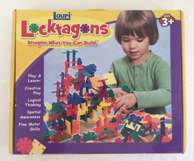 Lauri Locktagons Plastic Building Set 216 pieces