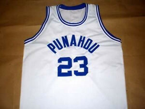 fa94398873e Image is loading BARACK-OBAMA-PUNAHOU-HIGH-SCHOOL-BASKETBALL-JERSEY-QUALITY-