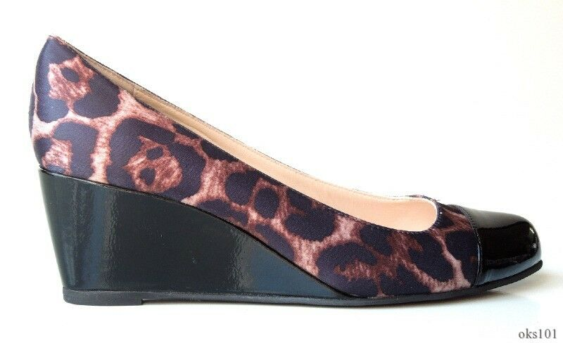 new CLAUDIA CIUTI 'Roxanne' animal-print cap toe WEDGES schuhe  - pretty