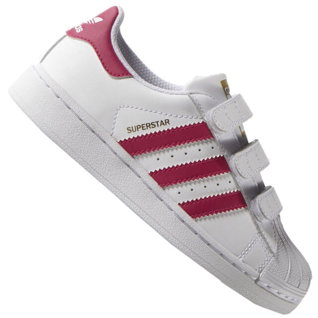 b710ca1d862e Kids s adidas Originals Superstar Foundation CF C Trainers in White ...
