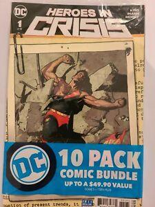 DC Comic 10 Pack, Heroes in Crisis 1, DK III Book 1, 10 high grade DC Comics
