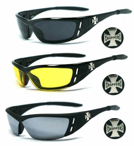 2er Pack Choppers 6608 Locs gafas de sol amarillo señores vasos mujer negro blanco