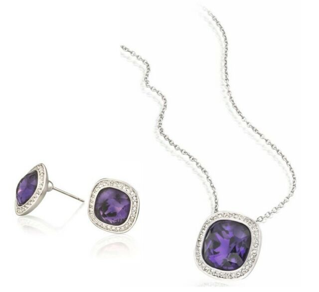 Swarovski Crystal Te Simplicity Necklace Earring Set 5030030