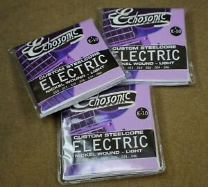 A 3-Pack of Echosonic Electric Guitar Strings