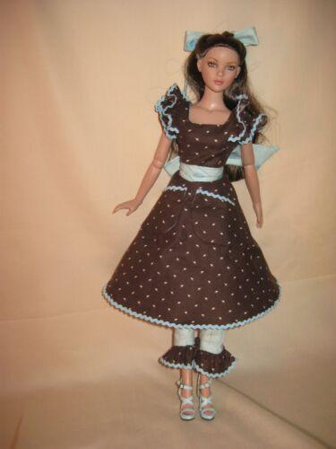 101 Ruffled Apron Dress Doll Pattern Pick Your Size