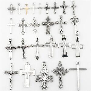 22404-26pcs-Vintage-Cross-Pendant-DIY-Jewelry-Marking-Charm