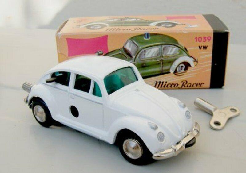 SCHUCO NUTZ MICRO RACER 1046 VW COMMERCIAL Weiß TIN TOY MIB