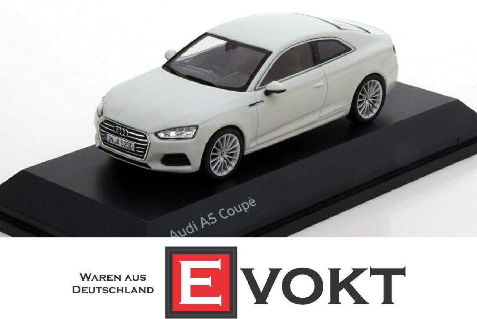 Original Audi A5 Coupe Coche Modelo 1 43 biancao Glaciar-biancao 5011605431