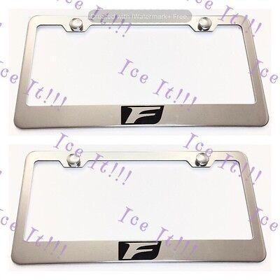 2X 4Runner 4 Runner Stainless Steel License Plate Frame Rust Free W// Caps