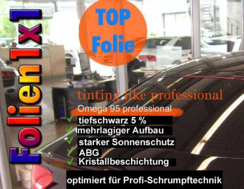 18,71€//qm Qualitäts Auto Tönungsfolie tiefschwarz 5/% ABG 50 x 70 cm formbar h