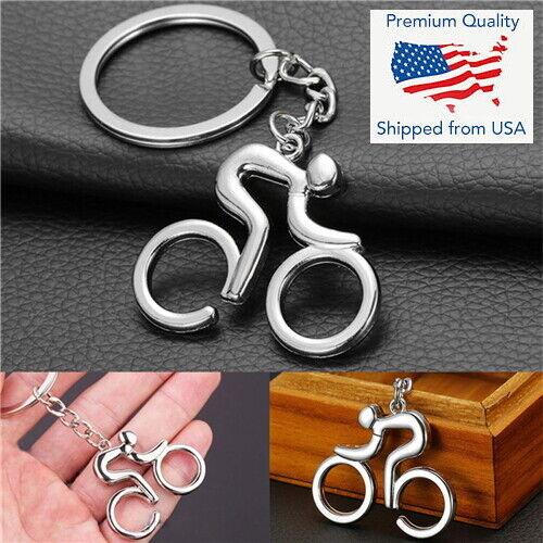 Metal Bike Bicycle Cycling Riding Keychain Keyring Keyfob Key Chain Gift
